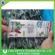 Promotional Plastic Pull Paper Pen