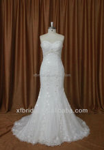 Understated straight ivory sweetheart sparkle old lace fabric for wedding dresses