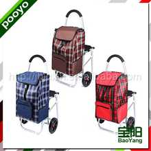 folding shopping cart with seat for promotion as eyeglass frames