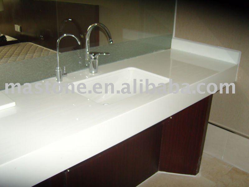 Prefab Vanity Countertops : Prefab white quartz stone bathroom vanity top modern