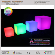 light cube seat / color changing outdoor cube light (cb400)