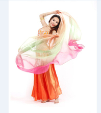 belly dance scarf silk elegant smooth gradient color scarf charming belly dance veil