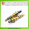 gold plated 3.5mm screw thread earphone plug