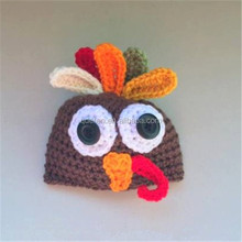 baby knitted crocheted hats turkey hats for thanksgiving gift
