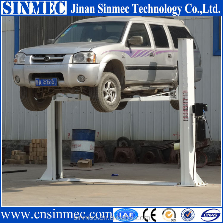 Single Post Hydraulic Car Lift For Home Garage Low Ceiling
