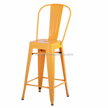 high bar pub cafe metal side barchair with back