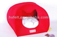 Manufacturer Pet bed for beloved dog and cat pet made of warm and soft felt