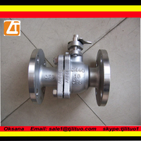 Tianjin China cf8m ball valve flanged ball valve