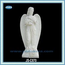 de mármol tallado de grandes esculturas de ángel con la flor