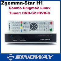 2015 hot sell in Europe HD dvb-s2+dvb-C Model Zgemma-star H1 enigma2 linux os hd dvb-s2 humax satellite receiver