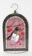 Fancy Bird cages hanging style set sticky note metal wall home decor