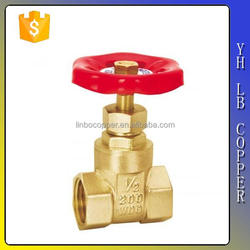 LINBO-C961good selling high quality copper stem gate valve for oil or gas or water