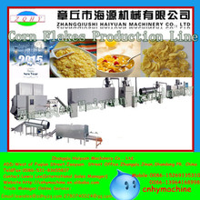 Haiyuan 200-300kg/h automatic and low power consumption kelloggs corn flakes machine