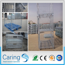 folding steel storage cage/expanded wire mesh container/wire mesh container suitable for warehouse
