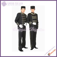 Horizonal stripe of Hotel bellboy bellman doorboy doorman Uniform