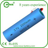 Rechargeable ICR 18650 Li-ion battery 3.7V 2200mAh