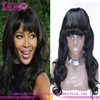 Wholesale cheap brazilian remy virgin hair wigs with bangs human hair full lace wigs with bangs