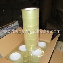 A Case of 36 Rolls 2 Mil Clear Adhesive Tape 2 Inches Wide 110 Yards Long for Sealing, Storage