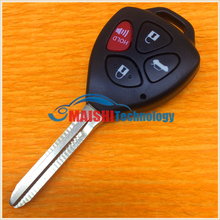 car key cover for toyota 4 button remote key shell with uncut keys best quality