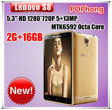 Original Lenovo S8 S898t MT6592V Octa Core Mobile Phone 5.3'' 1280x720P 2G RAM 16GB ROM Rear Camera 13.0MP Dual Camera Dual Sim