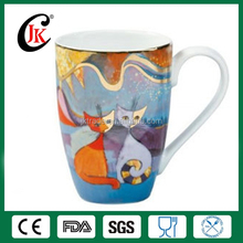 Wholesale Promotional Custom Golden Rim 12oz Bone China Mug