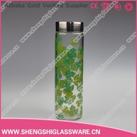 500ml empty rectangular glass mineral water bottles