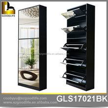 New Design Mixed Color 3+2 modern design mdf shoe cabinet from foshan factory