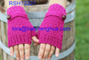 (RSH13227) Women Fashion Hand Knitted Fingerless Gloves with Button