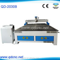 JiNan Manufacture 3d cnc wood carving router/2030 wood cnc router with 4.5kw water cooling spindle QD-2030