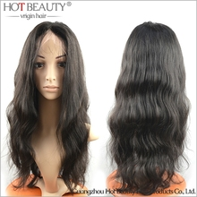 Brazilian Full Lace Wig Deep Wave 100% Virgin Human Hair Wig