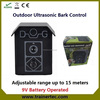 Hot selling automatic ul-10 with 9v battery dog anti bark collars