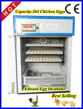 la mejor calidad automático usado barato avesdecorral incubadora para la venta 264 para huevos