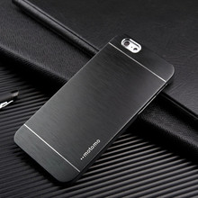 Favorites Compare Brushed MOTOMO Slim Armor Wiredrawing Alloy Dual Color hard back case For iphone 6 plus