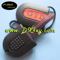 """High quality transponder key blank with light with """"GTD"""" writing on cover for vw key case key vw"""