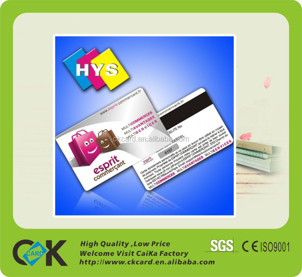 High Quality Custom Plastic Business Card transparent
