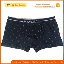 china factory fashion custom jacquard elastic dark blue cotton teen boy underwear
