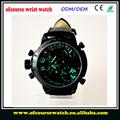 triple de moda la zona de tiempo relojes de los hombres de la marca china reloj