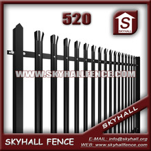 Polyester painting steel palisade garden fencing