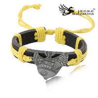 Fish Charm Jewelry Fashion Bracelet Most Popular Sell Unique Jewelry Leather Bracelet