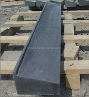 honed blue limestone exterior window sill with drip line