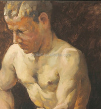 Best Service and Lowest Wholesale Price Nude Men Oil Painting