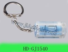 Bubble level with keychain