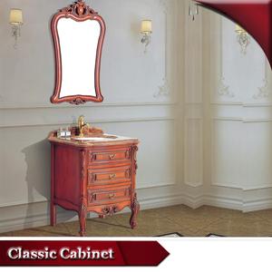 HS-G646 modernen roten bad eitelkeit/rot massivholz badezimmer-eitelkeit einheiten