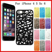 Hollow Bird Nest Snap On Phone Case Cover For iPhone 5s 5c 5 4s 4 6 6 plus