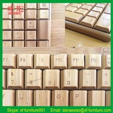 Wholesale Delicate bamboo made adjustable computer keyboard stand