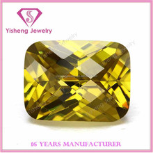 2015 new checker cushion cut loose Nano Crystal Zirconia stones
