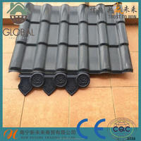 ASA coated spanish terracotta plastic pvc synthetic resin roof tile/ASA coated pvc roofing tile