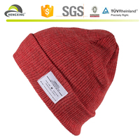 Personalized plain 100% cotton womens knitted winter hats