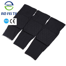 Free Shipping!2015 Hot football basketball volleyball black durable knee shin protector guard pad Knee Supports Knee pad