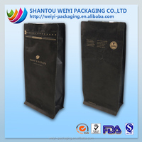 Aluminum foil arabica coffee beans flat bottom bag